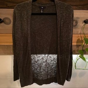 GAP Grey/Brown Cardigan Sweater - knit soft (S)
